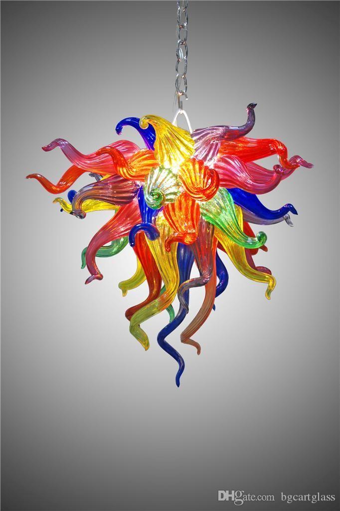 Завод-розетка ручной выдувное стекло светодиодные люстры многоцветные муранские стеклянные люстры современный арт-деко декоративные подвесные светодиодные стеклянные светильники