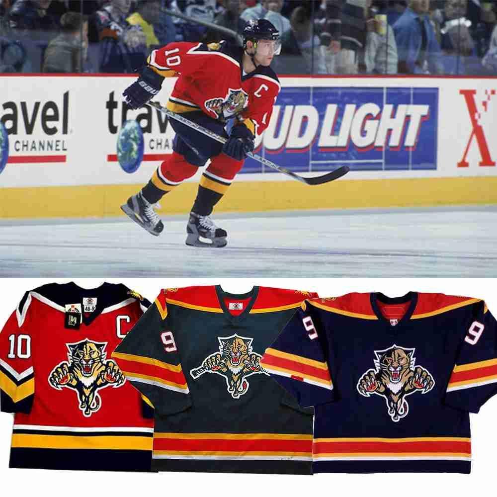 Vintage Florida Panthers Jersey Roberto Luongo Pavel Bure John Vanbiesbrouck Ray Sheppard Brian Skrudland Jovanovski Retro Hockey Jerseys