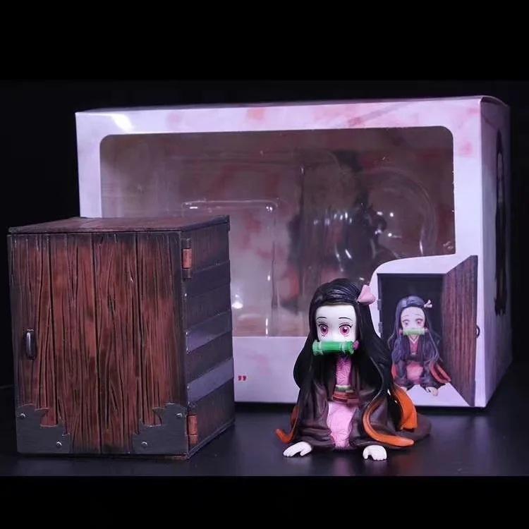 Şeytan Blade Anime heykelcik Iblis Slayer Kimetsu hiçbir Yaiba Kamado Tanjirou Hashibira Inosuke KAMADO PVC Şekil Koleksiyonu oyuncaklar T200413