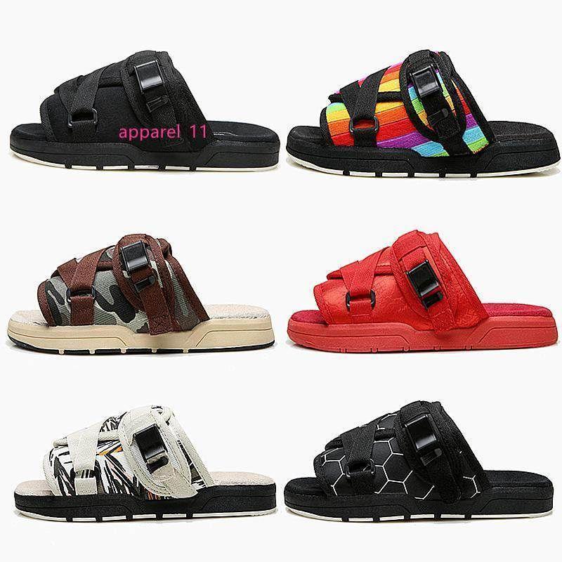 2019 Nova Visvim Chinelos Homens Mulheres amantes da moda de luxo sapatos chinelos de praia Hip-hop de rua Sandals melhor Chinelos Outdoor