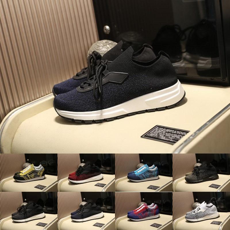 2019 Novos Prada Homens Itália lHigh Qualidade Designer De Luxo Sapatos Casuais Sapatilhas Dos Esportes Formadores tamanho Andando 38-44