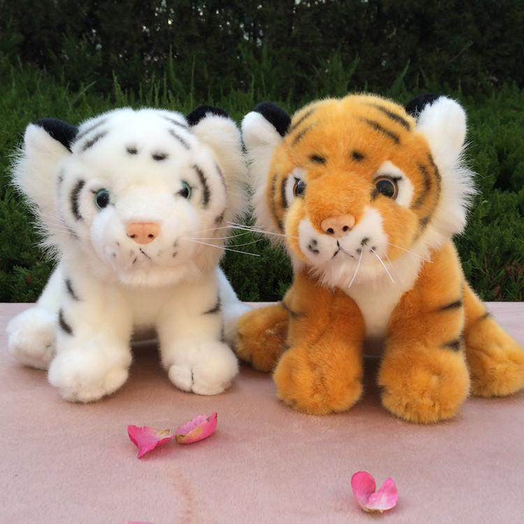 1pc 15cm 20cm simulation mini white tiger baby plush doll creative stuffed toy girl boy children Christmas day gift