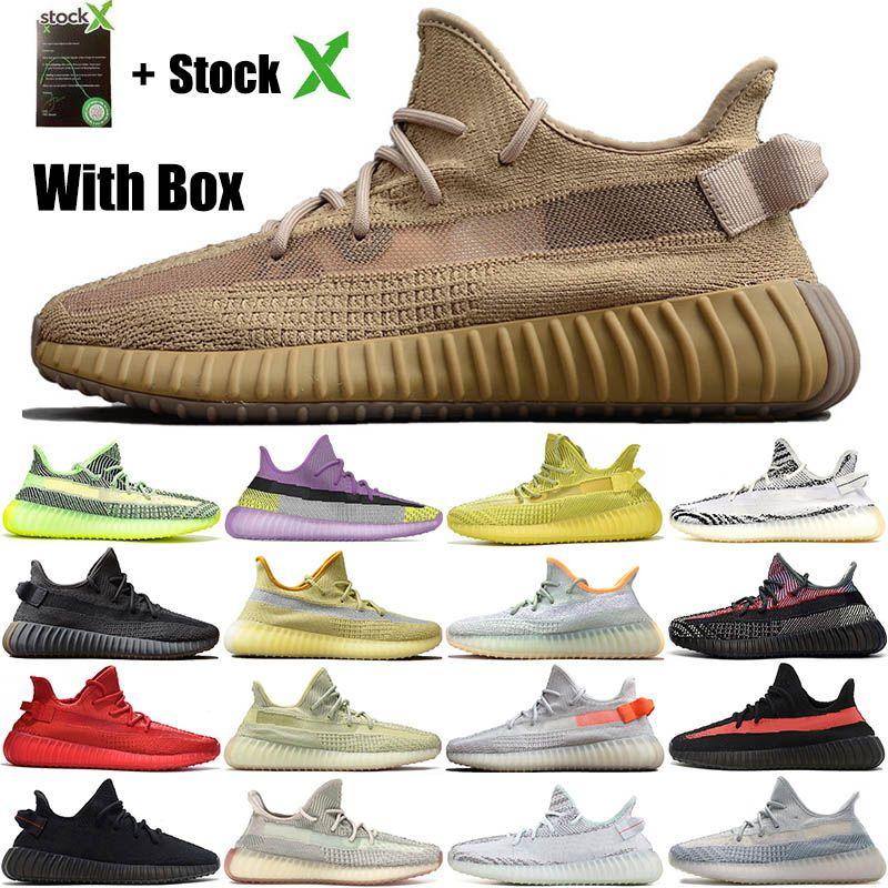 Kanye West Keten cüruf Kuyruk Işık Kutusu ile Ayakkabı Toprak Çöl Adaçayı Zyon 3M Yansıtıcı Yecheil Erkekler Kadınlar Tasarımcı Ayakkabı Koşu