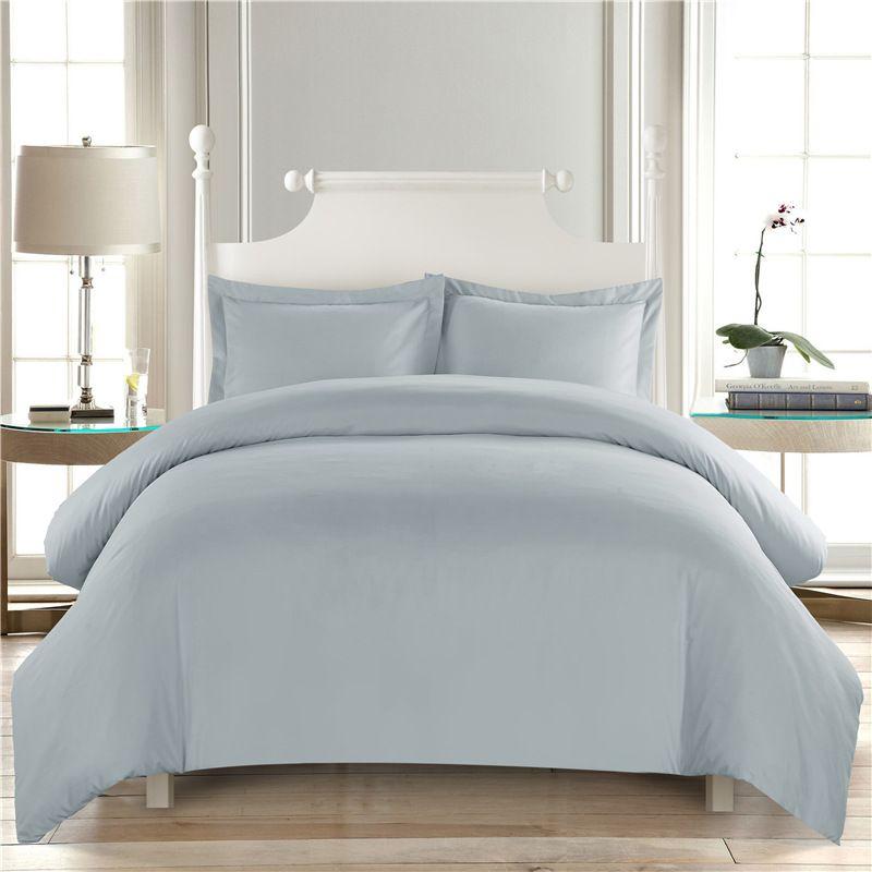 Saf renk beyaz yorgan Yatak Otel Nevresim Seti King Size ev Yatak Örtüsü Yastık kılıfı Yatak dekorasyon Double28 ayarlar