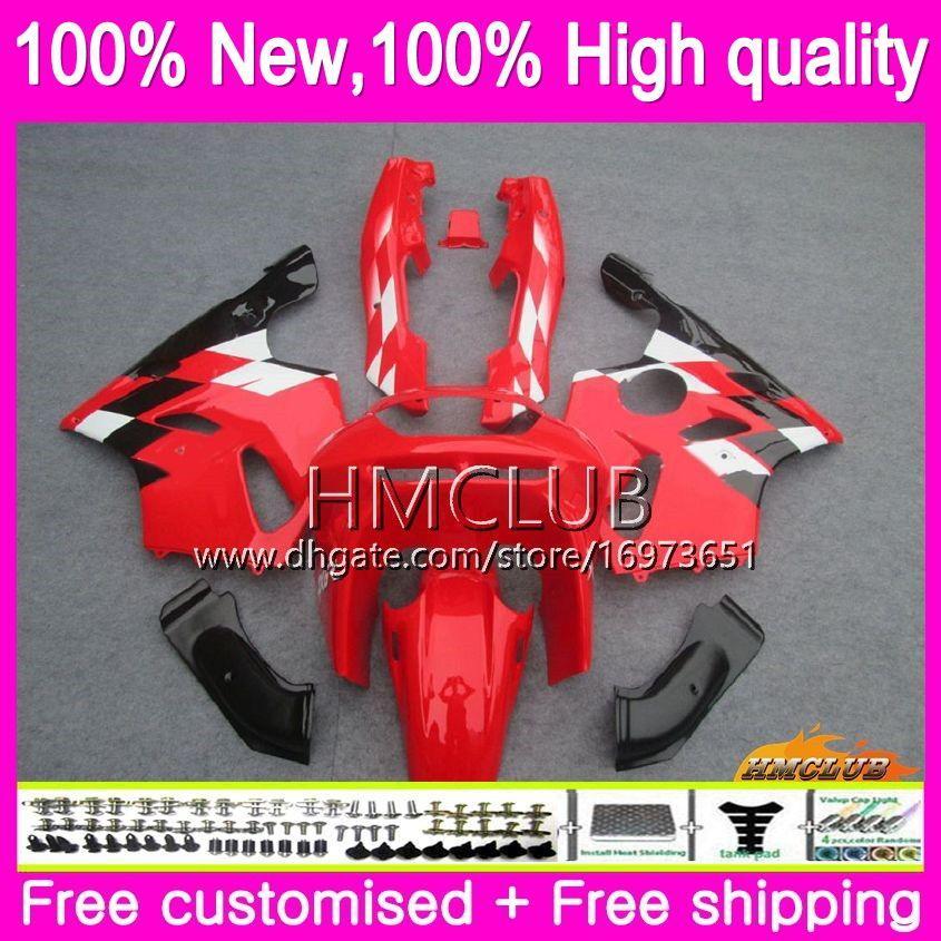 Body For KAWASAKI ZX 636 600 CC 600CC ZX6R 94 95 96 97 61HM.13 Factory red ZX600 ZX636 ZX-6R 94-97 ZX 6 R 6R 1994 1995 1996 1997 Fairings