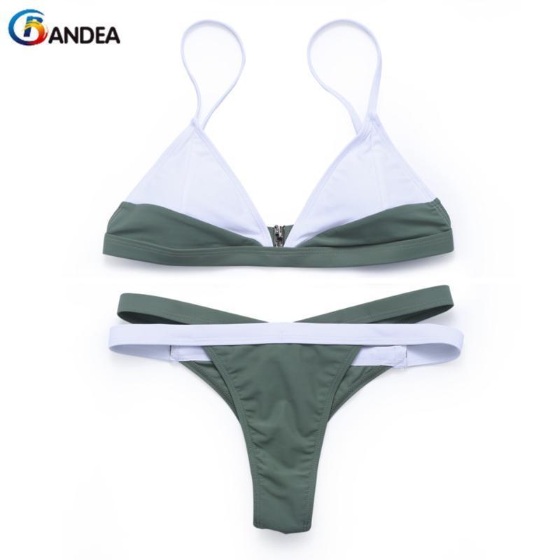 Women's Swimwear BANDEA Sexy Bikinis Women Patchwork Thong Bottom Bathing Suit Female Padding Swimsuit Summer Wear 2021