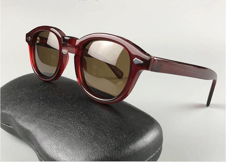 جديد واضح والخضر جوني ديب للجنسين الاستقطاب النظارات الشمسية براون UV400 HD polarzied العدسات المستوردة لوح 49/46/44 كامل تعيين حالة