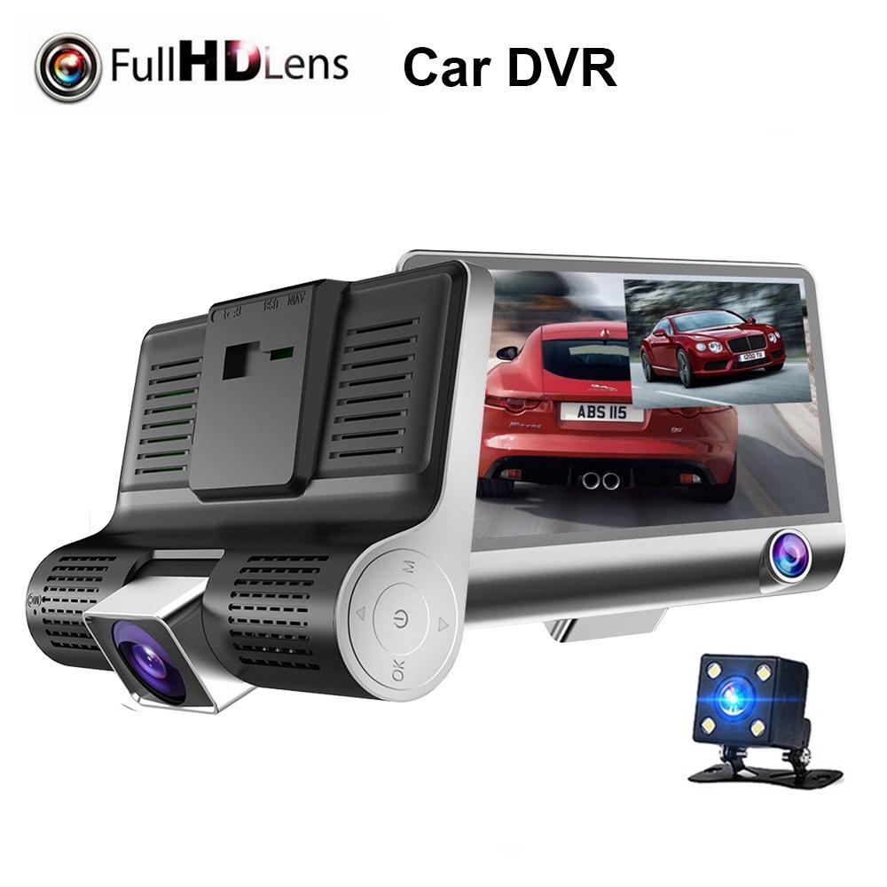3 عدسة 1080P HD القيادة مسجل سيارة مرآة الرؤية الخلفية سيارة DVR كاميرا رقمية 170 درجة عرض للرؤية الليلية القيادة مسجل HHA211