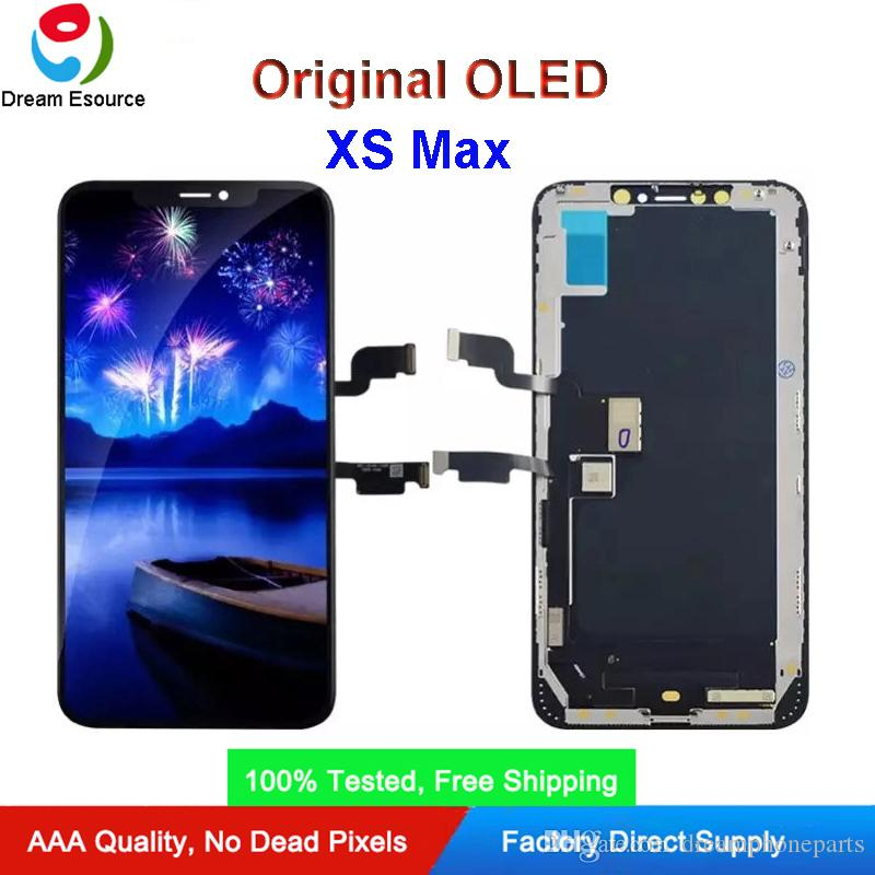 100% Tested Original OLED Screen Display for iPhone XS Max Complete Assembly with Perfect 3D Touch Fit for Installation & Free DHL shipping
