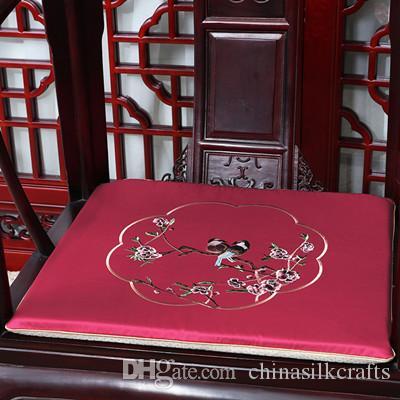 Nuove fiore del ricamo Birds l'ammortizzatore di sede per il sofà sedia Pad Offic casa Poltrona cuscino del sedile di seta cinese Cuscini sedia rilievi della sede
