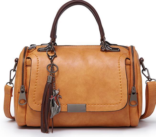 2020 novo designer selvagem Luxo Um ombro diagonal saco de moda Boston Pillow Bag Ladies Designer Tassel portátil Bag