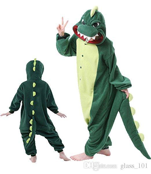 뜨거운 판매 따뜻한 크리스마스 파티 부모 - 아이 옷 유니섹스 Onesies 공룡 잠옷 잠옷 파자마 (모든 연령대 의상)