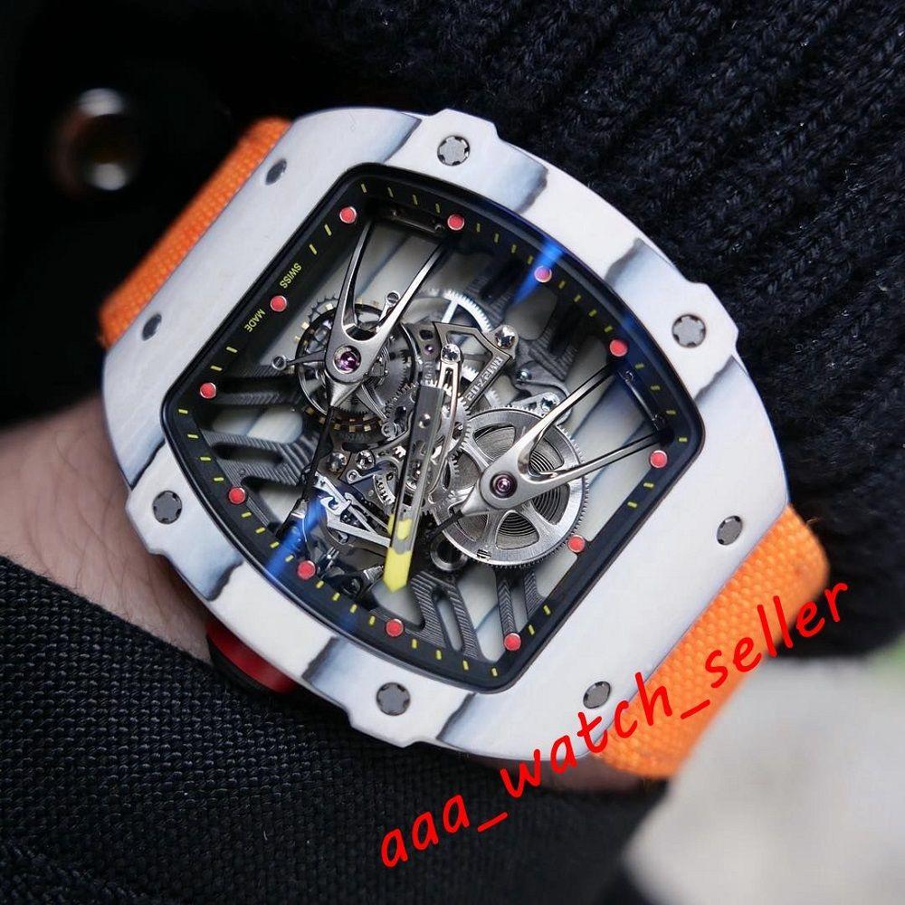 18 Стили Новые Мужские Модные Часы RM2702 RM3501 Rafael Nadal Outdoorworked Tourbillon Механическое автоматическое движение Резиновый Ремешок Наручные часы