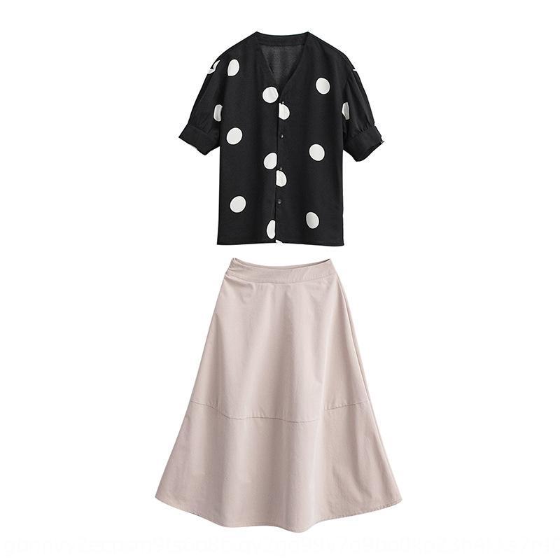 GnMKW 5iIyq 2020 yaz polka çok Fransız Trendy wo gündelik batı elbise Ulusal elbise kadı etek seti tarzı iki parçalı set azınlık peri dot
