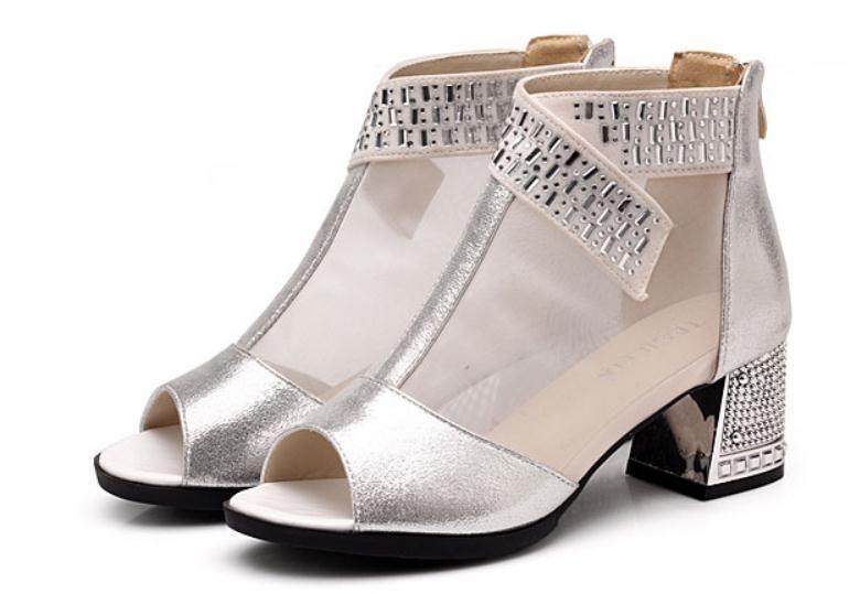 2019 sandales pour femmes en été avec nouveau style talon haut talon grossier @ 52