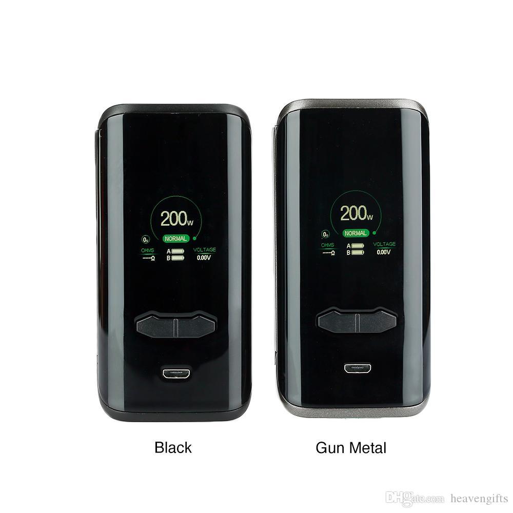 AUGVAPE VX200 200W TC Box MOD VW/ VV/ Bypass/ TC Function & 1.3 inch Large Color Display E cig Mod No battery