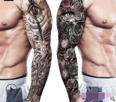 6pcs / lot impermeable tatuaje temporal etiqueta completo de rama grande falso Old School Cráneo Tatoo pegatinas flash tatuajes Hombres Mujeres frescas Producto