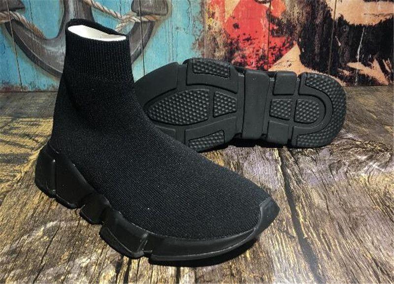 Zapatillas de deporte de alta calidad para hombre Calcetín de velocidad para hombre Zapatillas Slip-on Calzado casual para caminar de alta calidad Confort All Black Chaussures