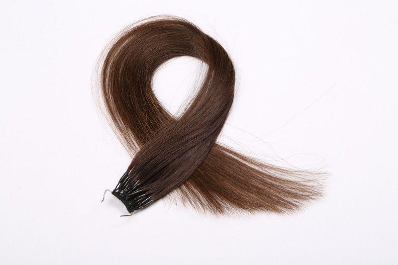 4 # Colore 12-26 pollici Remy Umani Capelli Lisci 100 g / pz Twins I TIP Filo di cotone Hair Tip Extension