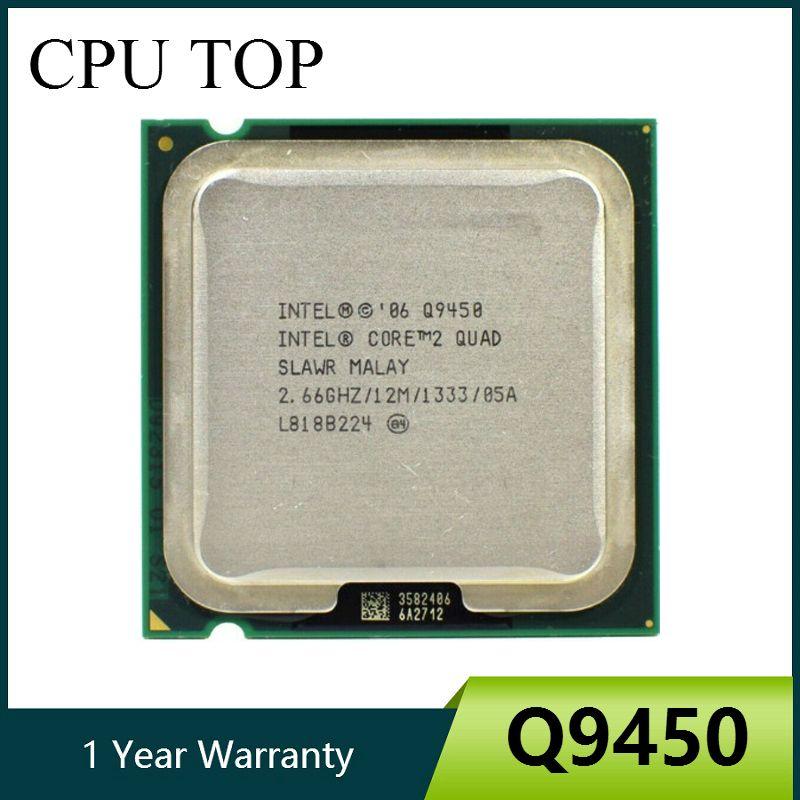 Ordinateur de Bureau Intel Core 2 Quad Q9450 processeur 2.66GHz 12MB 1333 LGA 775 CPU cpu