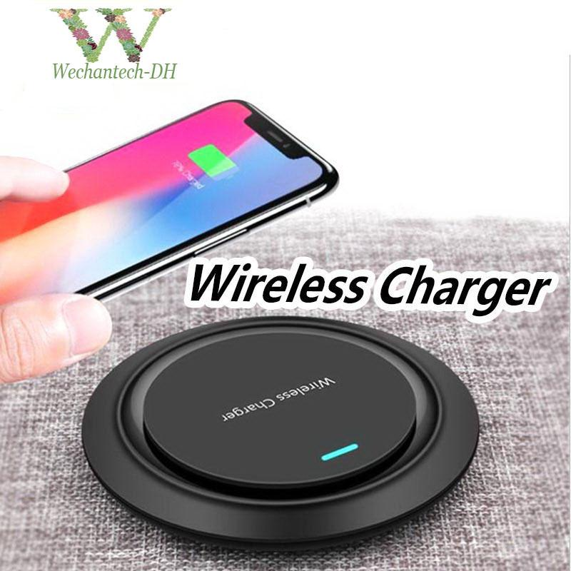 Qi originale Caricabatterie Wireless Pad Fast Charge ricarica iP 11 X 8 8 Plus per Samsung Galaxy S7 / S8 / S8 Plus / S9 S10 note10