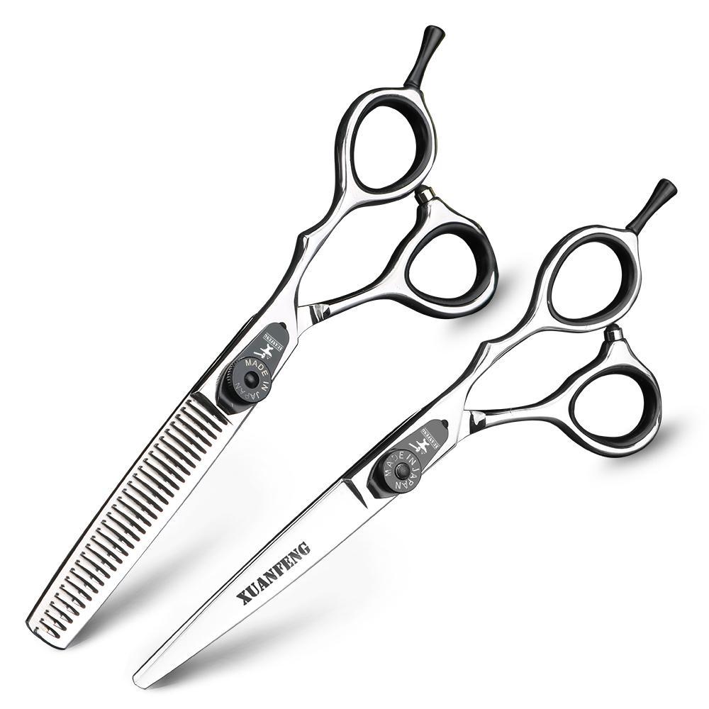 XUANFENG Professional Hair Salon Hairdressing Scissors Set 11 Inch Japanese  Hair Scissors Hairdresser Cutting Thinning Shear Best Professional Hair