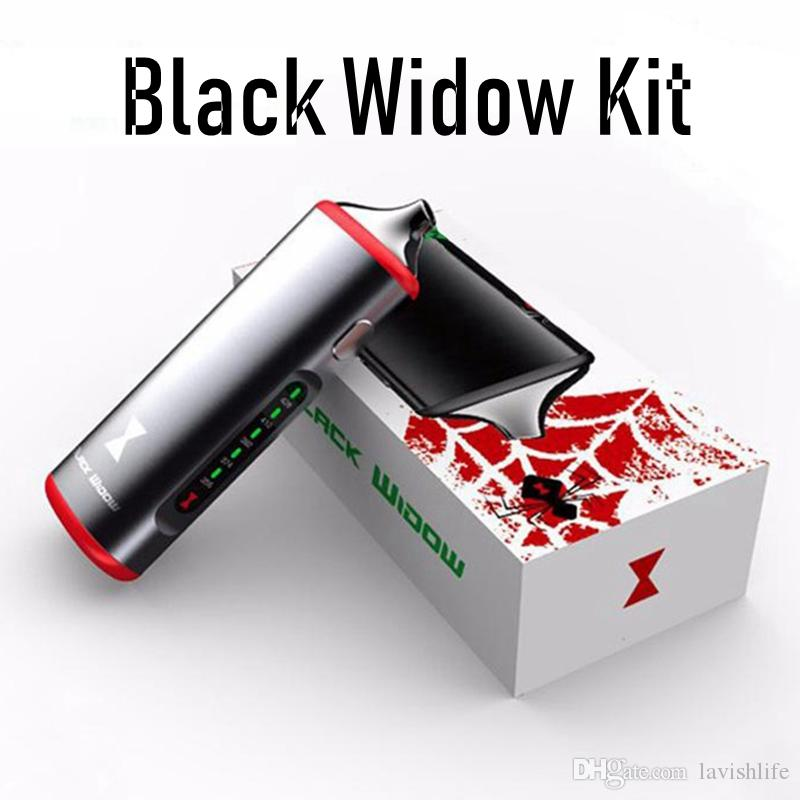 100% Original Black Widow 3 in 1 Kit Dry Herb Wax Vaporizer 2200mAh Battery Black Silver With Ceramic Heating Element E-cigarette Kits