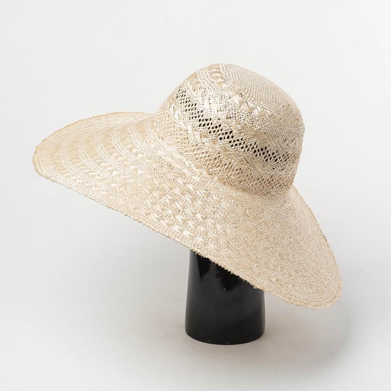 01901-HH7313 2019 yeni desige kemer yaz el yapımı sisal rüzgar ağzına fedoras erkekler kadınlar eğlence panama şapka kap