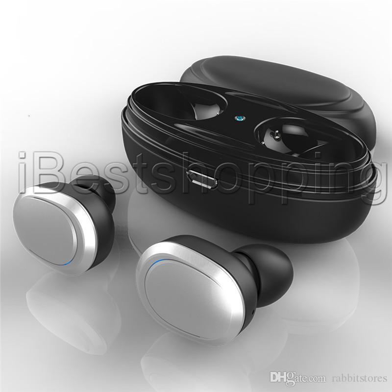 E tws Twins Bluetooth T12 Kablosuz Kulaklık ile Şarj dock Kulaklık Stereo Kulaklık İçin Akıllı Telefon