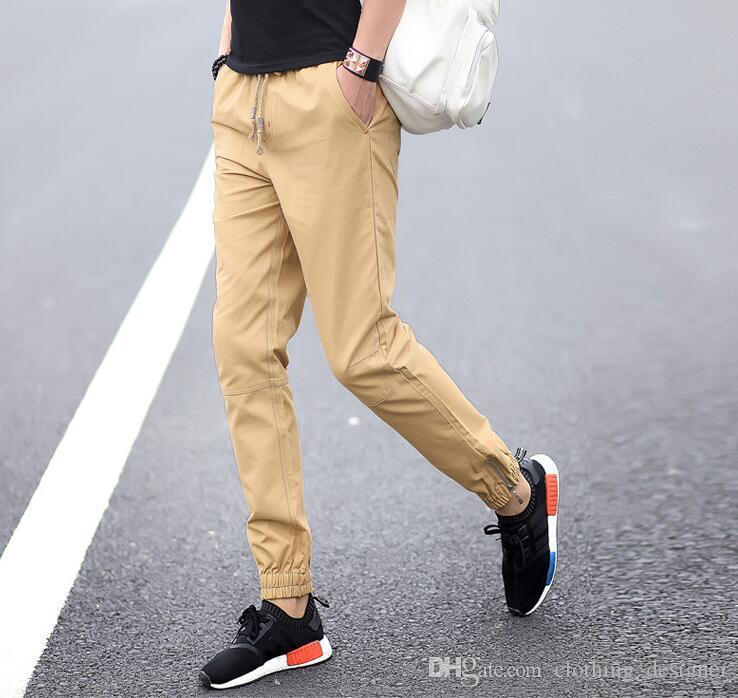Pantalones de algodón para hombres Pantalón de moda para hombre Pantalón de diseñador Pantalones para hombres de deportes Pantalones casuales Pantalones harem nueve puntos