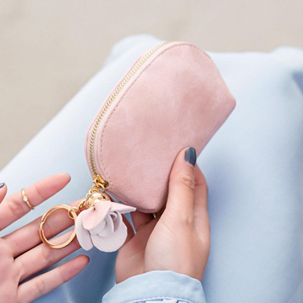 Bolsas para mujeres pequeñas 2021 Bolso de cuero Monedero Bolsa Bolsa Coin Holder Clutch * 0.92 Zip Feminina Mini Vtklk