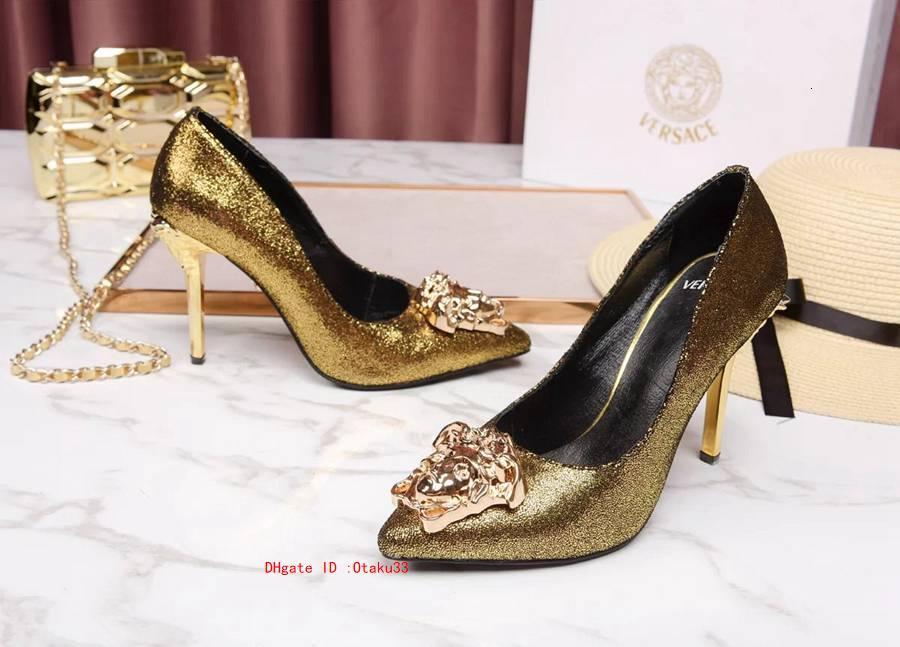 Nouveaux 2019 dames en cuir des chaussures des femmes pour la haute couture talons plats Enfilez robe de soirée de mariage Chaussures Automne Printemps 0915JP03