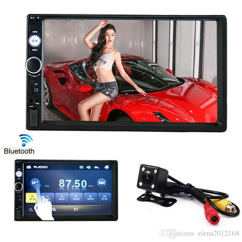 자동차 라디오 플레이어 미러 링크 Autoradio 2 DIN 일반 자동차 모델 7 '인치 LCD 터치 스크린 블루투스 자동 스테레오 후면보기 카메라