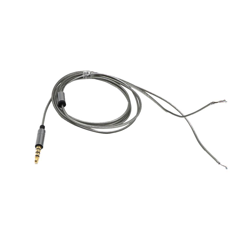 Kopfhörer-Kabel für DIY Ersatz 1.2m Audio Kabel Kopfhörer Reparatur Headset Draht DIY-Kopfhörer-Kopfhörer Wartung Kabel
