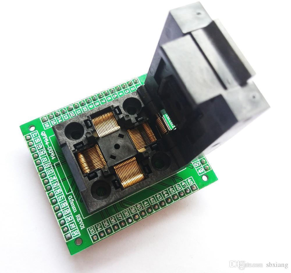TQFP64 LQFP64 QFP64 socket adapter IC chip test burning seat STM32 QFP64 0.5m pr