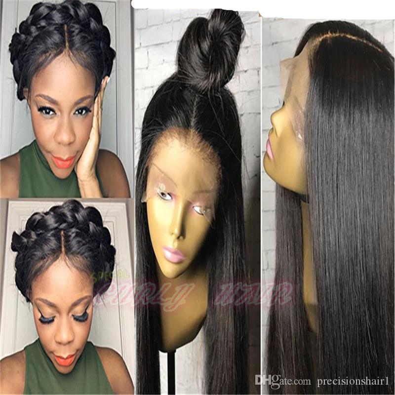 Peluca llena del cordón del pelo de la Virgen para la peluca mongol barata del frente del cordón del pelo humano de las mujeres negras para la venta