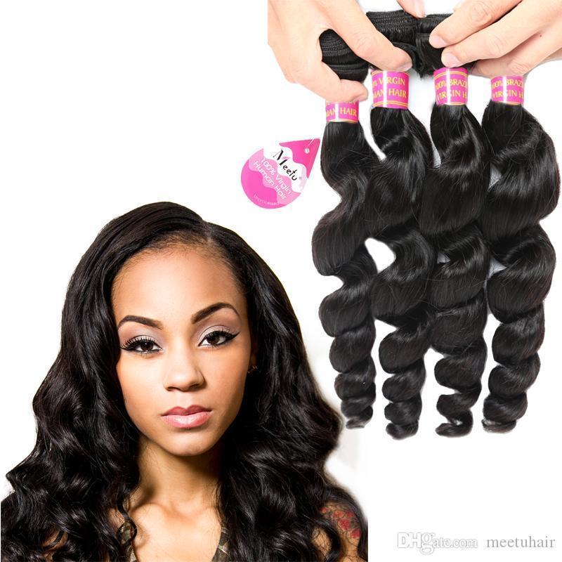 저렴한 8A 브라질 느슨한 처녀 파 머리 연장 4 번들에는 페루의 처리되지 않은 버진 인간의 머리 직물 뭉치 온라인 도매 가격