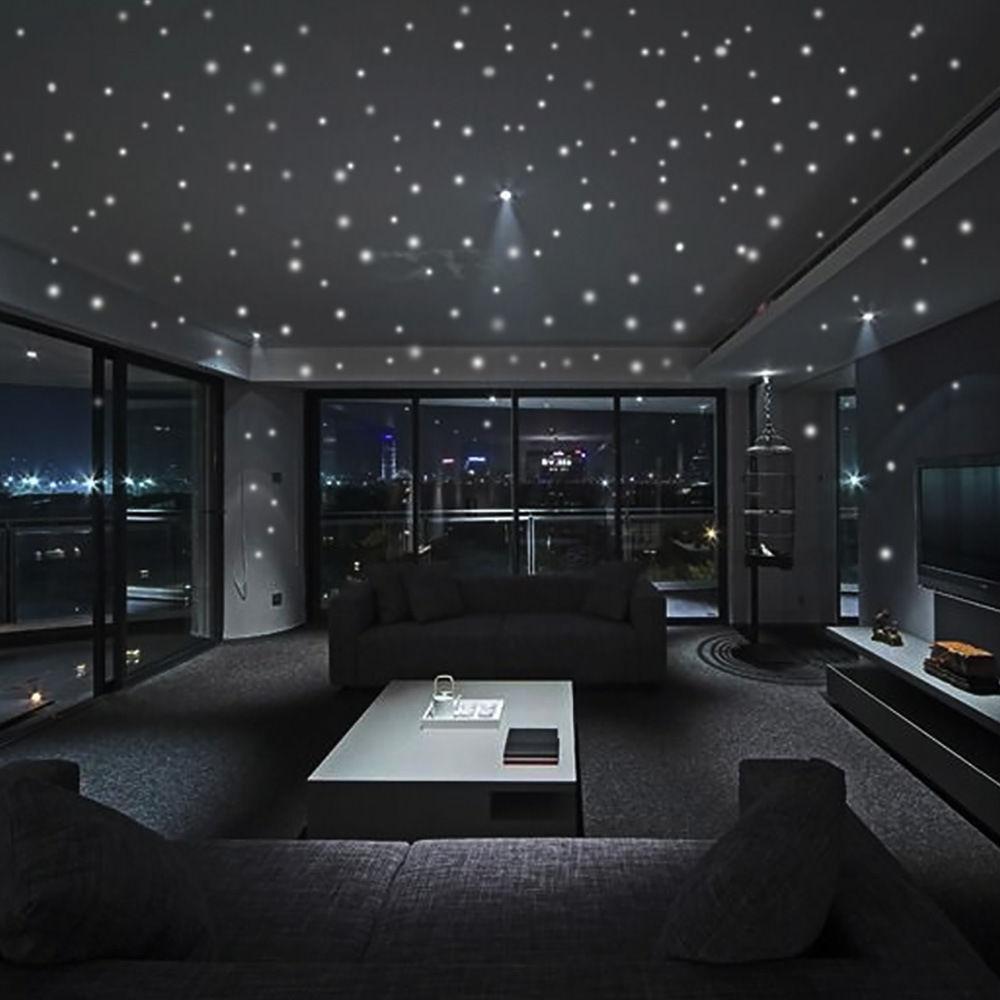 CALIENTE Resplandor en el punto redondo Pegatinas de estrella oscura Vinilos luminosos Pegatinas de pared Como estrella en la noche Fiesta romántica Cumpleaños