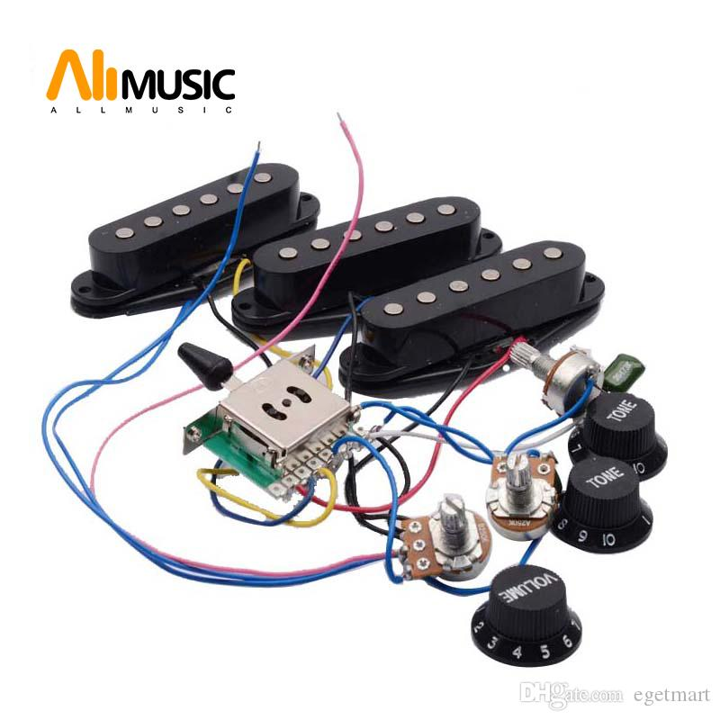 2021 Electric Guitar Pickup Wiring Harness Prewired 5 Way Switch 2T1V SSS  SSH 1T1V HH Pickup For ST Electric Guitar Black White From Egetmart, $12.5    DHgate.ComDHgate.com