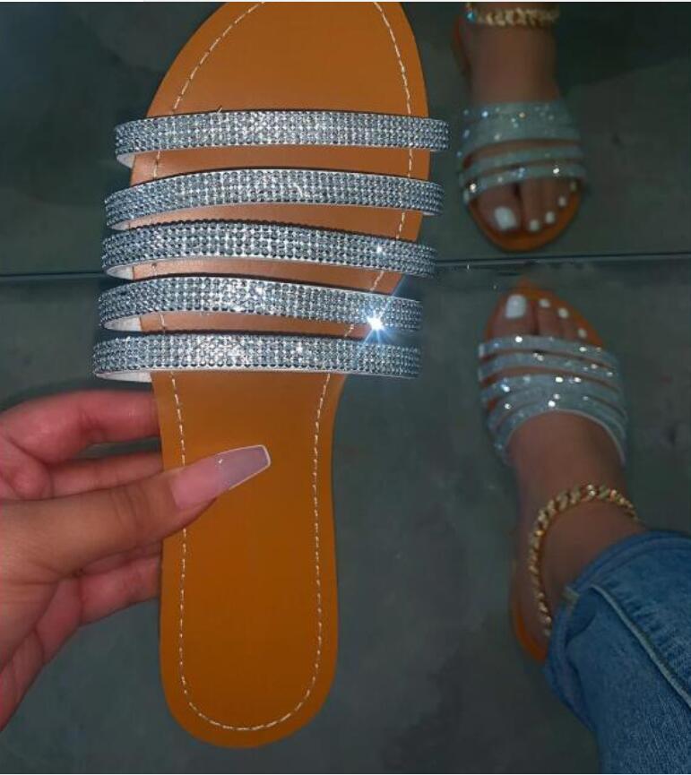sandalias de las señoras del diseñador y mujeres 2020 nuevas zapatillas zapatos planos del talón de Europa y América zapatos y zapatillas de las mujeres 9119