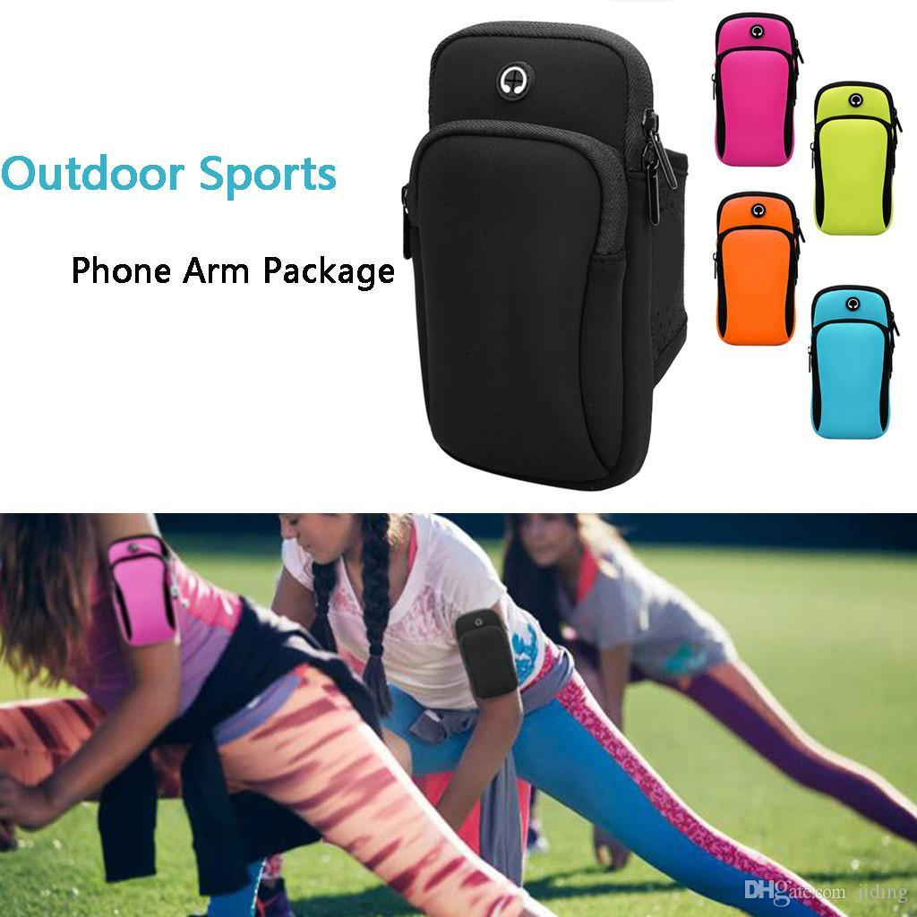 Running Wrist Band Bag Outdoor Sports Phone Arm Package Hiking Cell Strap Pocket