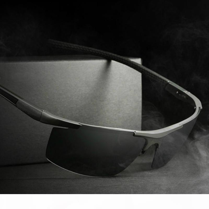 automobilisti in alluminio magnesio da sole polarizzati di sport degli uomini specchietto retrovisore Occhiali da sole oculos maschile di ciclismo Occhiali accessori occhiali