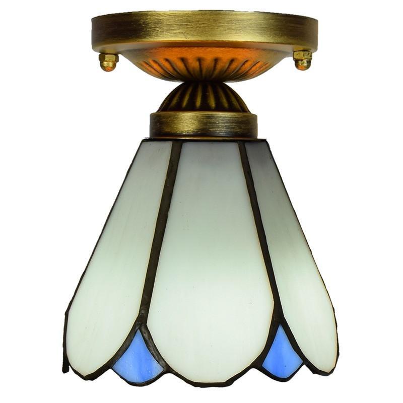 الحد الأدنى الحديثة أبيض سقف الممر شرفة خليج نافذة صغيرة مصباح السقف رخيصة تيفاني نمط الزجاج الملون أضواء السقف TF093
