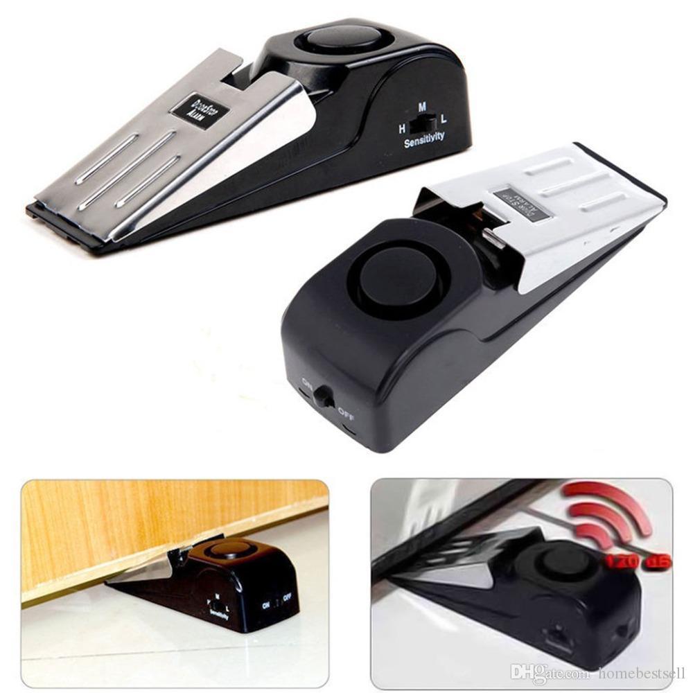 Tope de puerta mini alarma disparada hilos de la vibración en forma de cuña Inicio tapón de alerta de seguridad Bloque de sistema Sistema de bloqueo