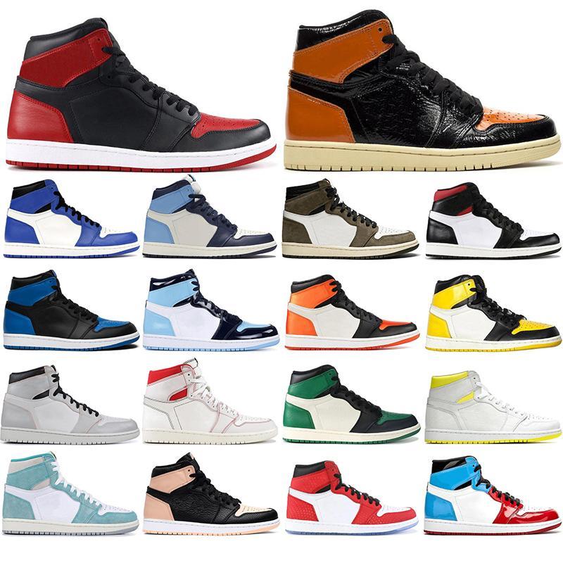 1 مع مجانا الجوارب 2020الأردنأزياء الرجعية 1S أحذية الرجال لكرة السلة 1 محطمة اللوح الخلفي بلا خوف = سبورت احذية حجم 36-46