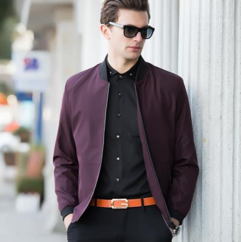 Casual estilo de la moda de primavera ropa para hombre otoño chaquetas de diseño color sólido de manga larga de negocios Hombre Ropa
