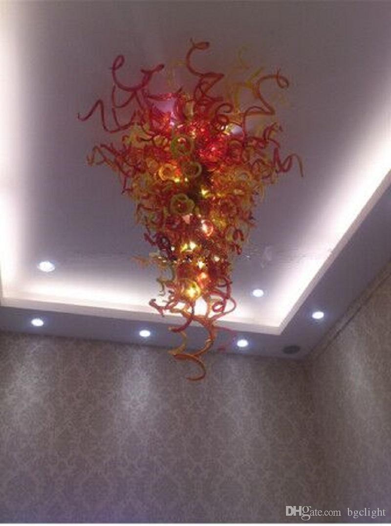 Italienische Moderne LED Kronleuchter Moderne Hand geblasenem Glas Wall Art Deco Deft Design Elegante Murano Glasleuchter