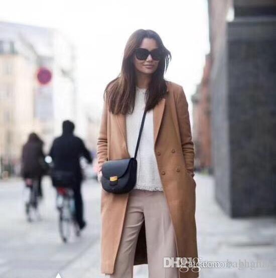 Shoulder Bags Cross Body Totes 88048 19cm3 saddle handbags brand fashion luxury designer famous women shoulder designer cowhide real leather