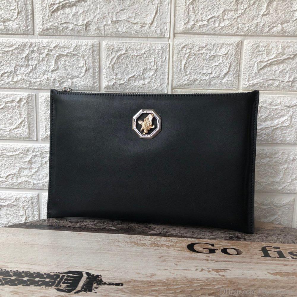 bolso de los hombres de alta calidad tamaño del embrague 28 * 19cm caja de regalo exquisito WSJ000 # 111547