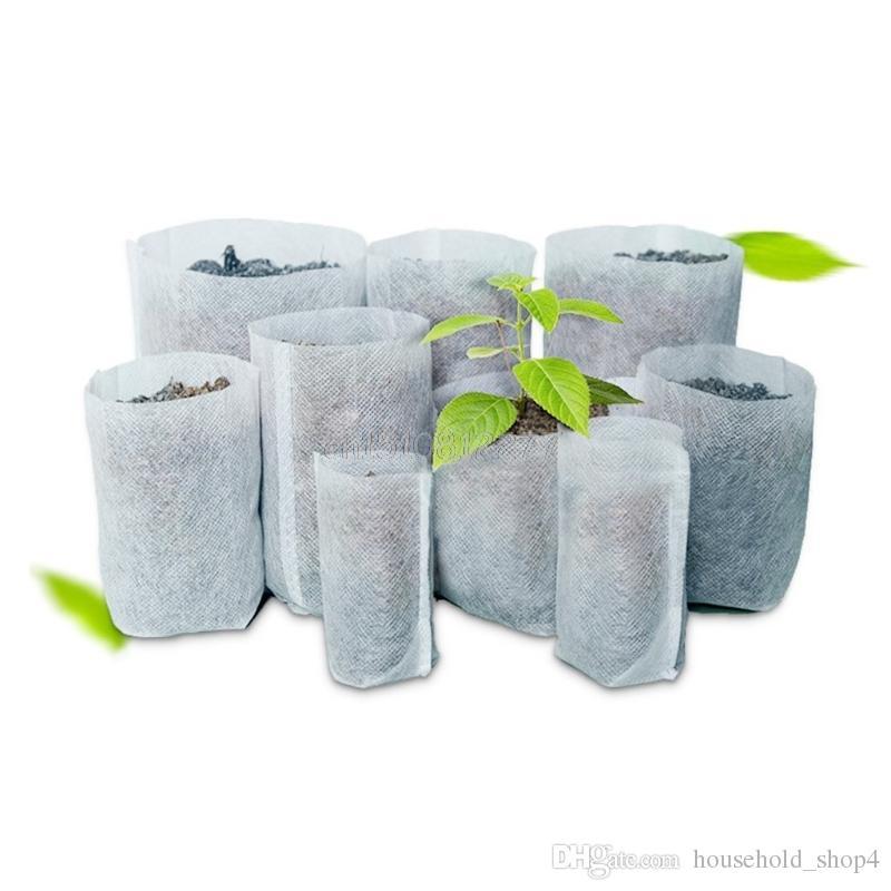 Biodegradable Seed Nursery Bags 100pcs/lot Nursery Flower Pots Vegetable Transplant Breeding Pots Garden Planting Nursery Plant